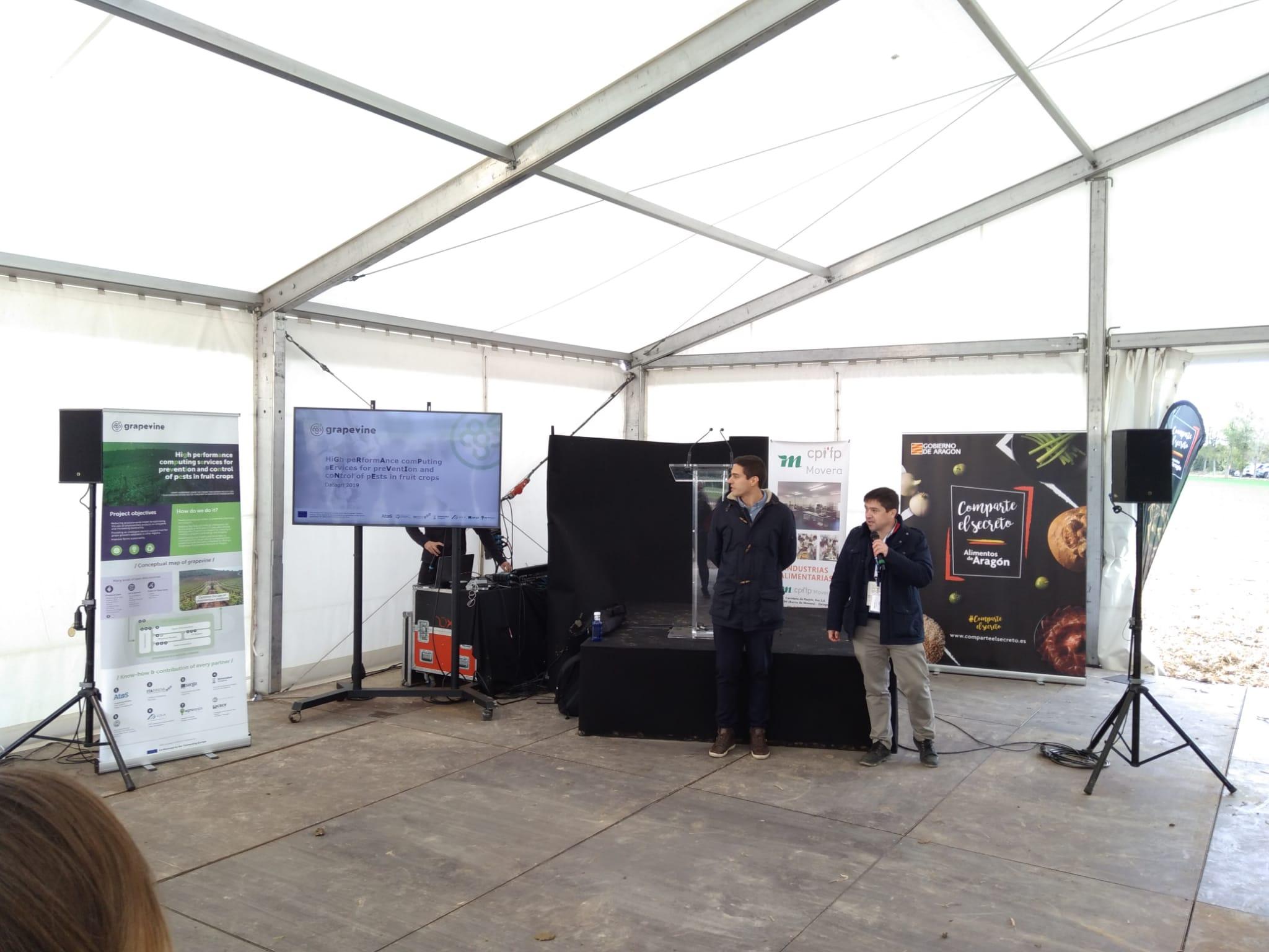 ITAINNOVA presenta el proyecto Grapevine en el Farming Day de DATAGRI