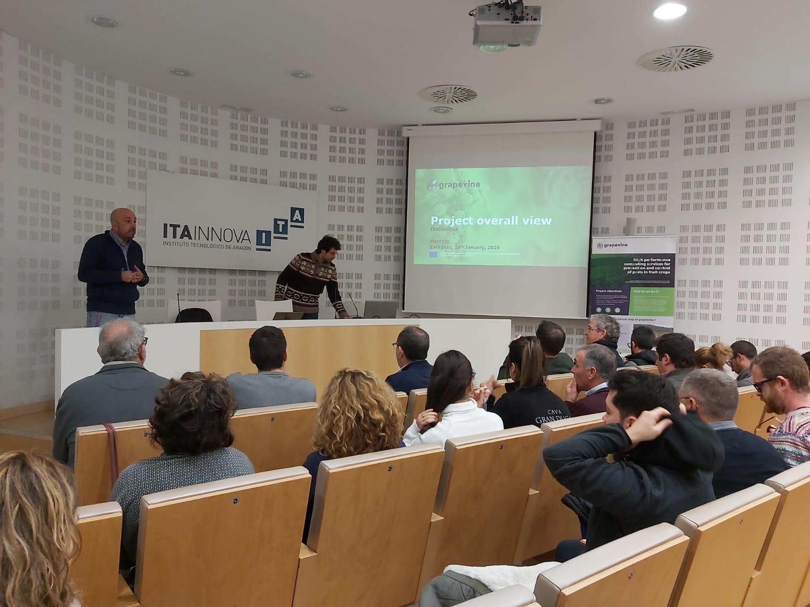 Técnicos agrícolas de D.O. vitícolas conocen en ITAINNOVA el proyecto GRAPEVINE