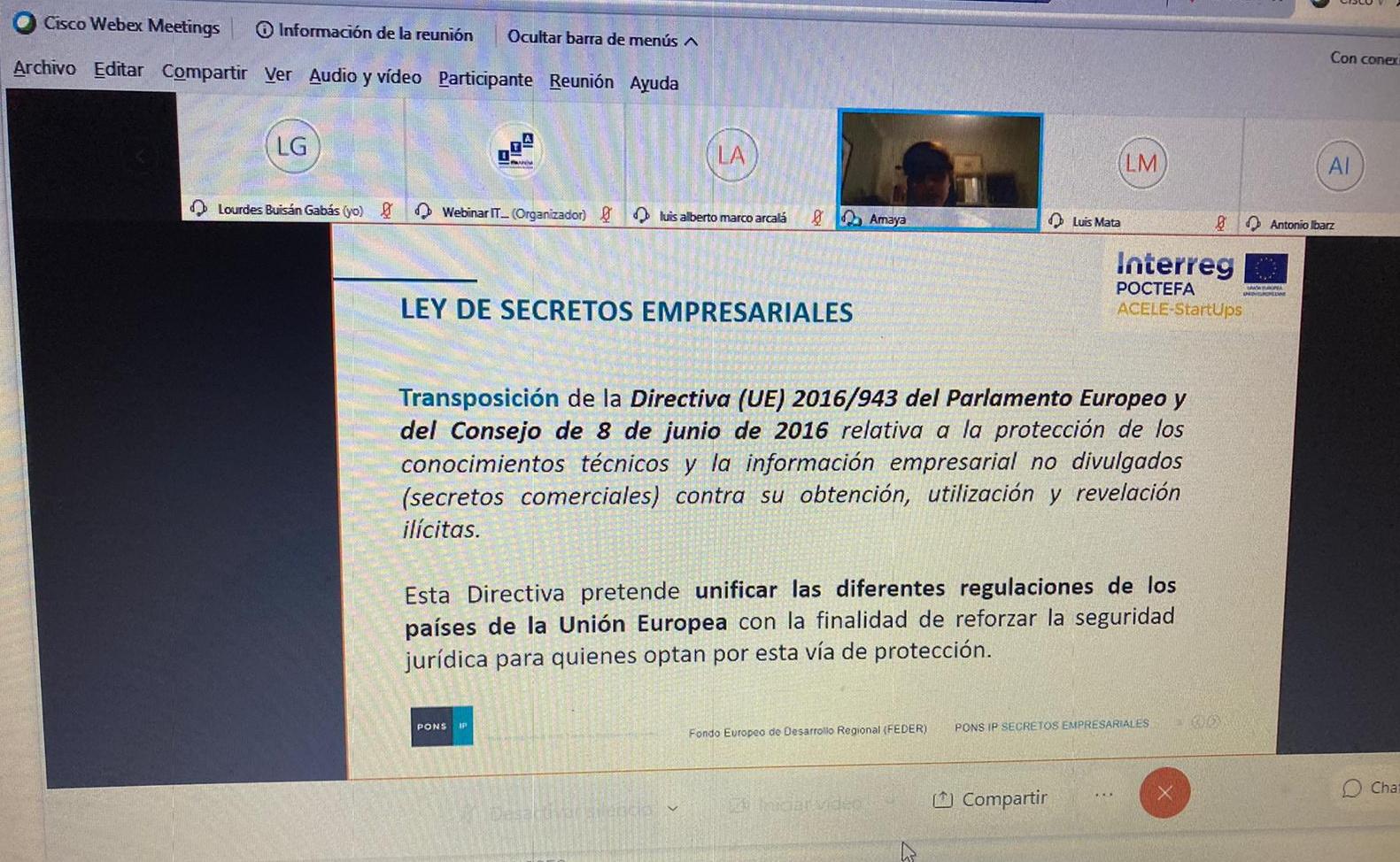ITAINNOVA organiza un seminario para dar a conocer a las empresas cómo proteger los secretos empresariales