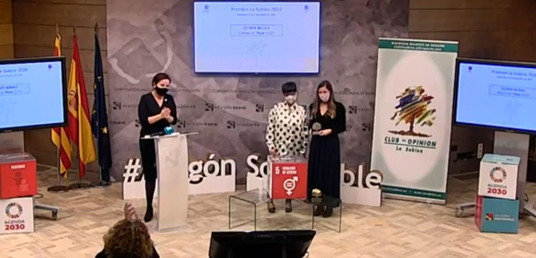 Esther Borao recibió el premio Sabina de Plata 2020