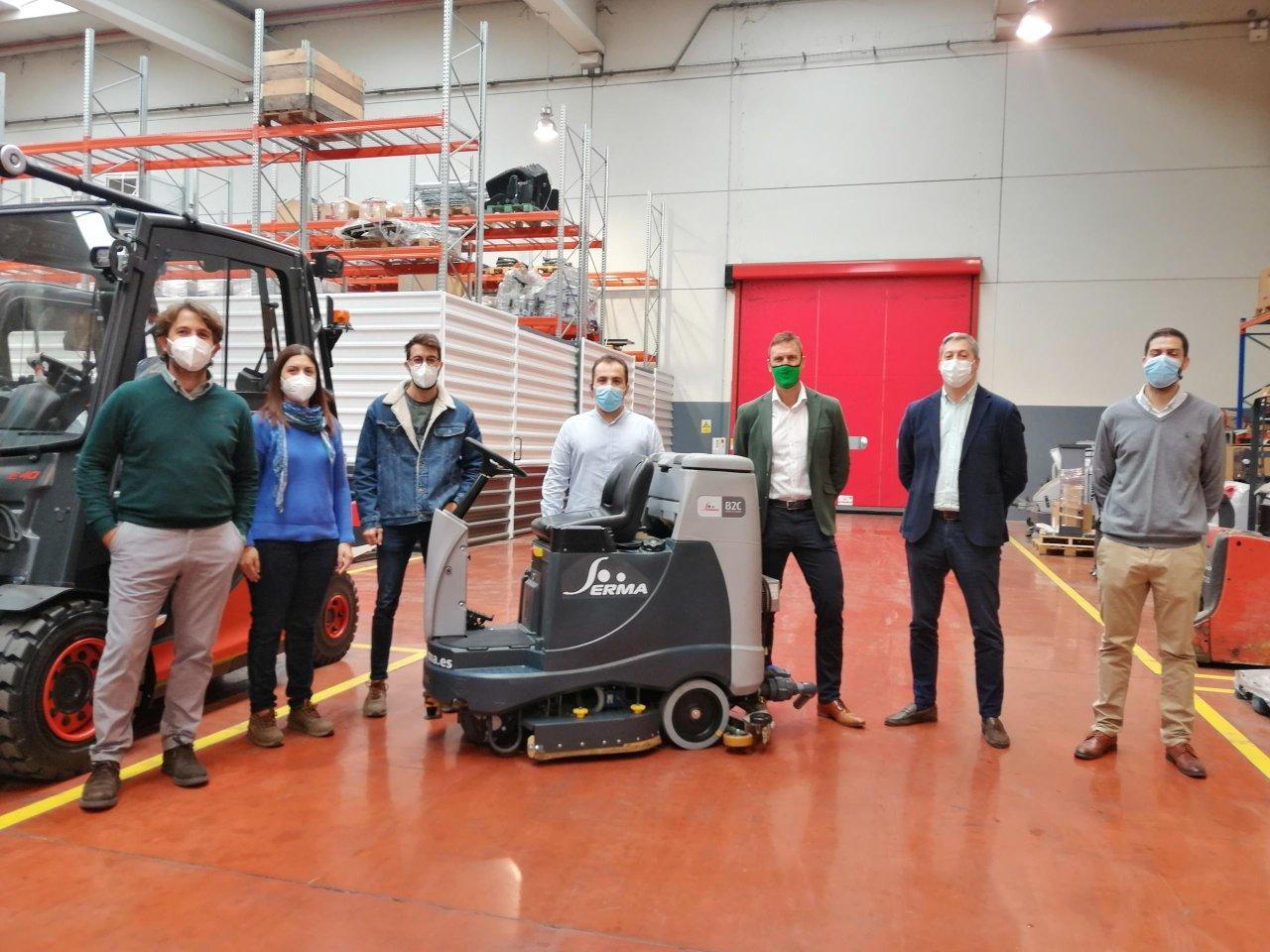 La primera fregadora automatizada del mundo para grandes superficies, diseñada por SERMA e ITAINNOVA, en Aragón TV