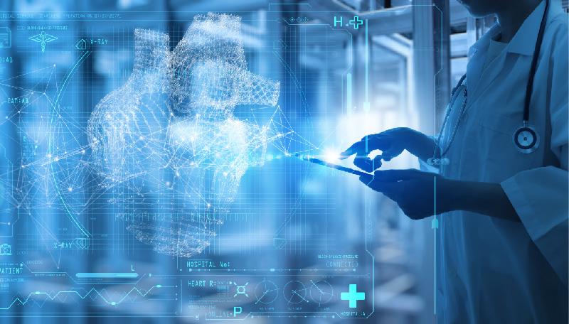 Composición que combina a personal sanitario con tecnologías digitales