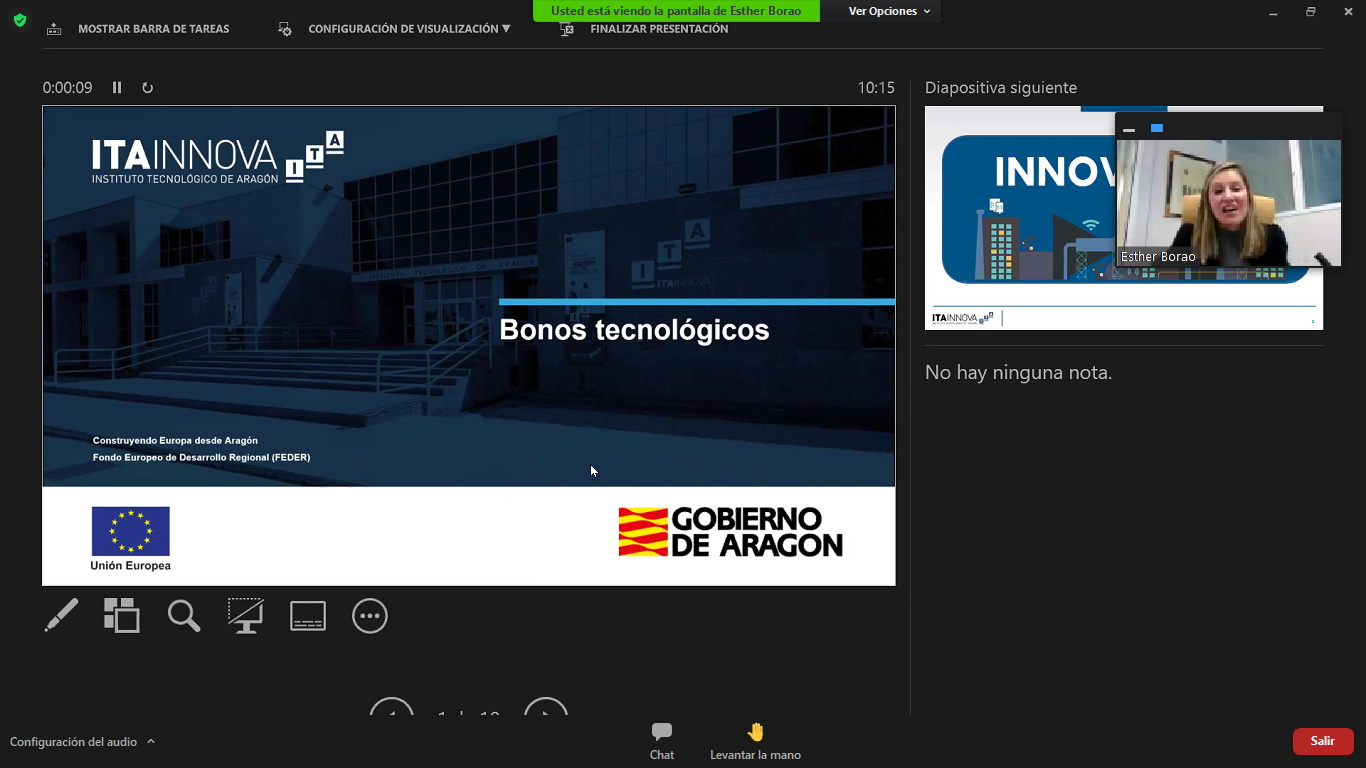 Los Bonos Tecnológicos de ITAINNOVA, dirigidos a pymes aragonesas, mejorarán su competitividad en innovación
