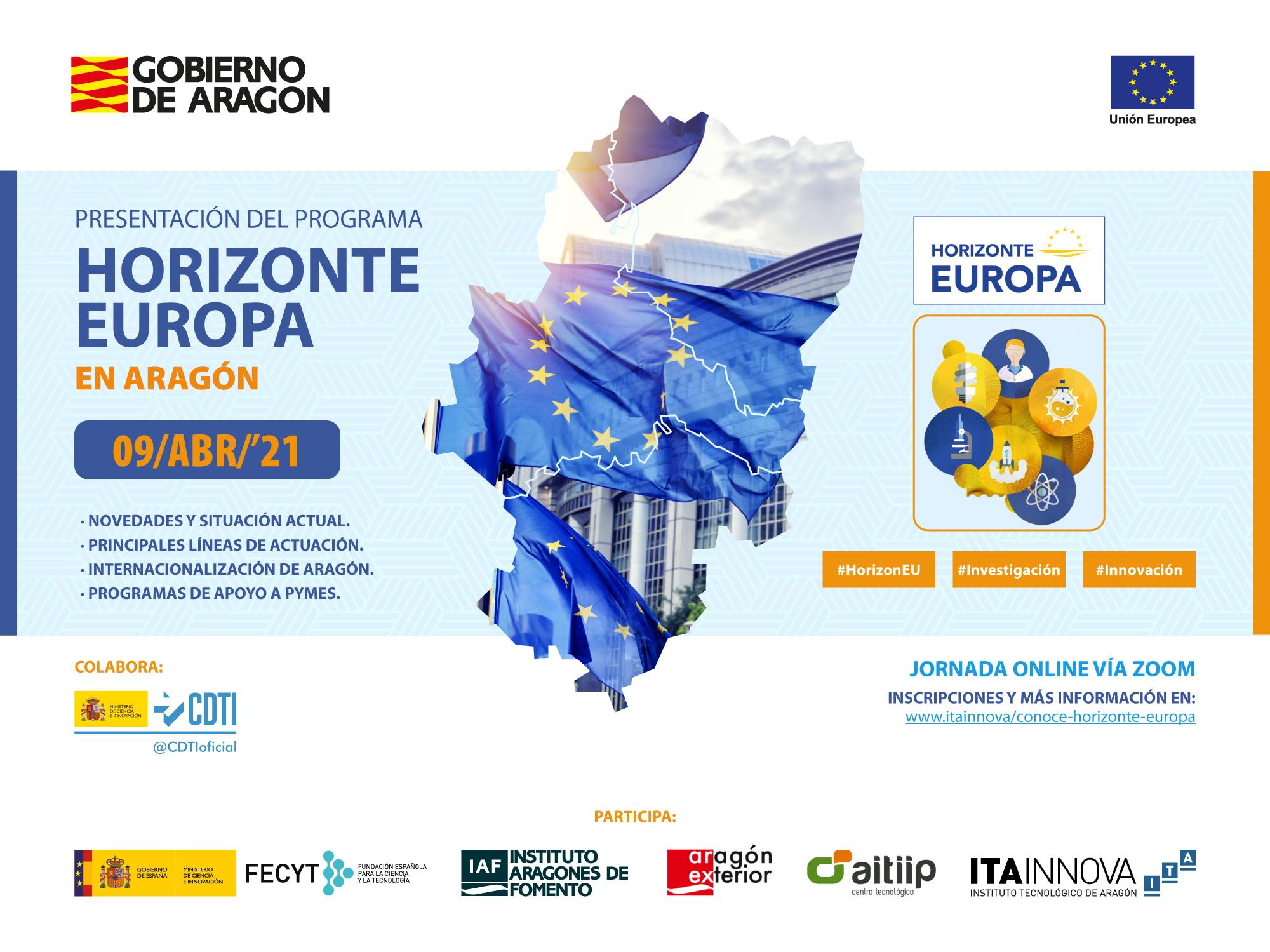 Horizonte Europa abre una oportunidad para impulsar actividades de investigación e innovación en Aragón