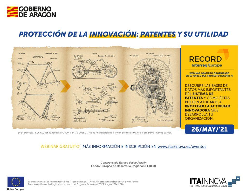 """Imagen del webinar """"Protección de la innovación: patentes y su utilidad"""""""