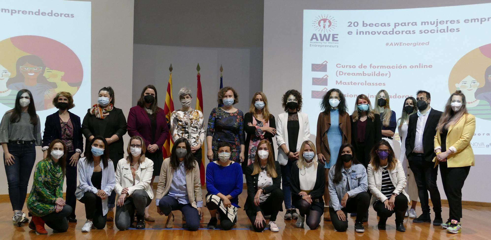 Veinte mujeres de Aragón inician una formación empresarial financiada por Estados Unidos