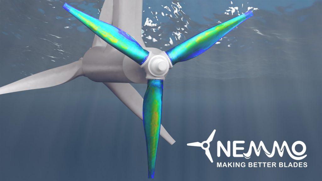 Representación virtual de un aerogenerador del proyecto NEMMO