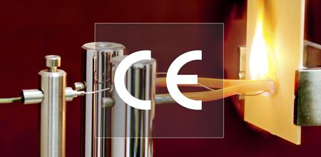 Marcado CE, cable electrico quemándose