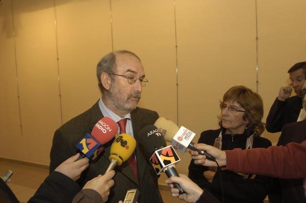 Manuel Muniesa presenta la propuesta del Plan Estratégico para la Automoción en Aragón, en la Cámara de Comercio