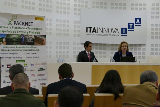 Ponentes de PACKNET y LOGISTOP en jornada innovación envases y embalajes celebrada en ITAINNOVA