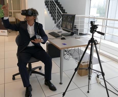 participante con las oculus