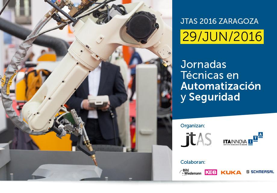 Imagen representativa de las Jornadas Técnicas de Automatización y Seguridad – JTAS 2016 Zaragoza