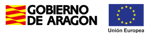 Logos del Gobierno de Aragón y de la Unión Europea