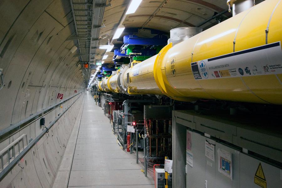 laser europeo de electrones libre de rayos x