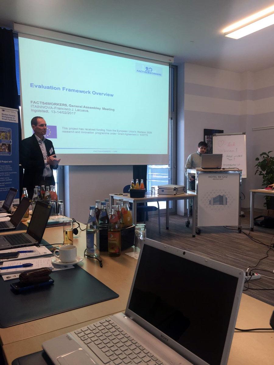 Francisco Lacueva (ITAINNOVA) en la reunión de Facts4workers que tuvo lugar en Alemania