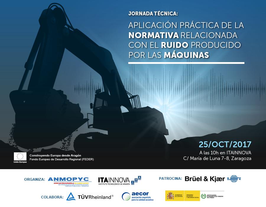 """Imagen de la jornada """"Aplicación práctica de la normativa relacionada con el ruido producido por las máquinas"""""""