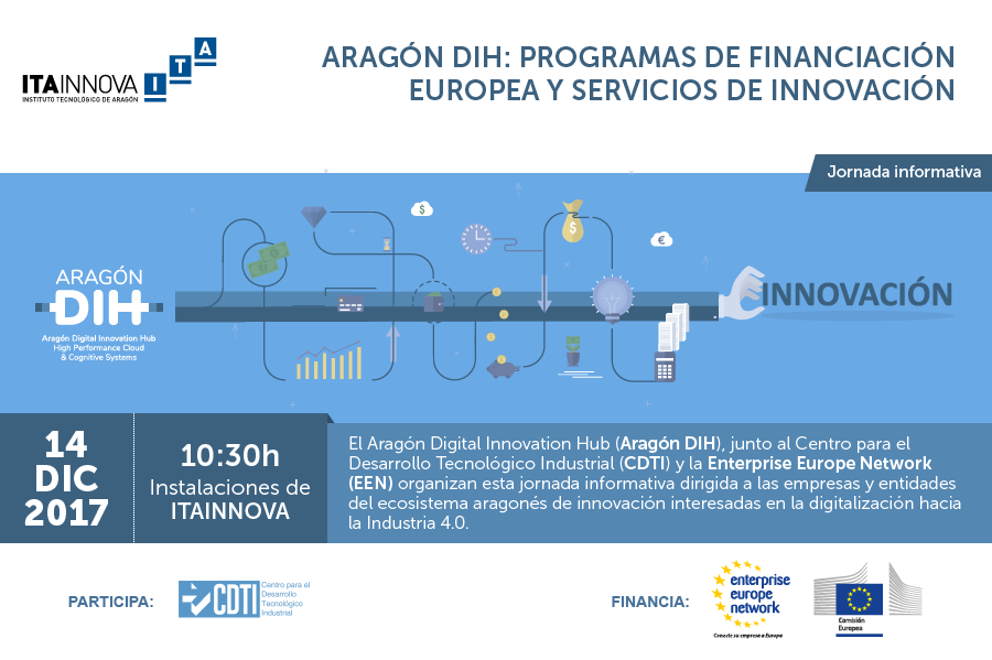 """Imagen de la jornada """"Programas de financiación europea y servicios de innovación"""""""