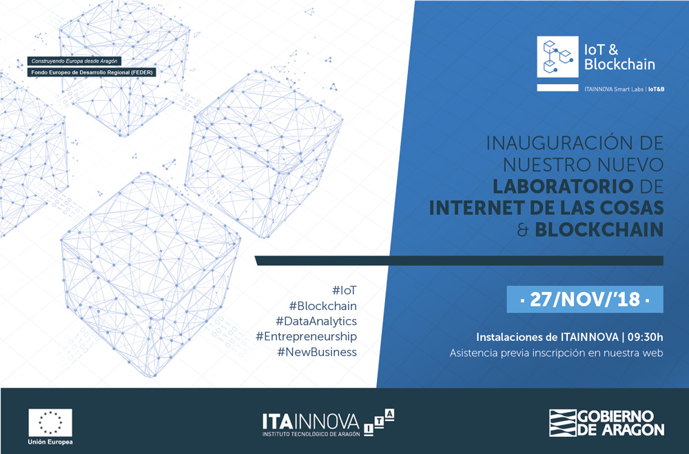 Imagen de la jornada de presentación del nuevo Laboratorio de IoT & Blockchain d ITAINNOVA